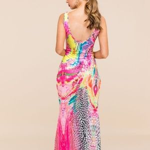 Pinkalicious Dresses - Oh So Sexy Pink & Colorful Maxi Dress